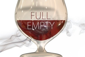 glass half full empty