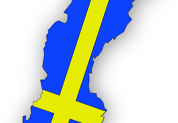 swedish map flag