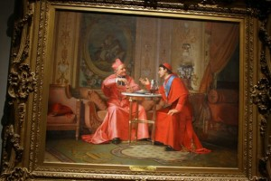 Blue Pope v Red Cardinals