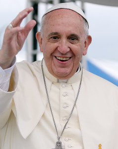 Gay Pope Francis Blue