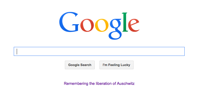 Google Celebrates the Holocaust